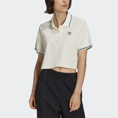 Women Originals White Tennis Luxe Polo Shirt