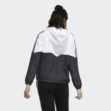 Women Sport Inspired White Icons 3-Stripes Windbreaker