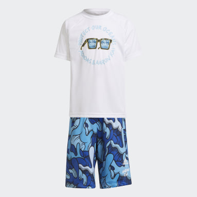 Boys Training White Aaron Kai Summer Set