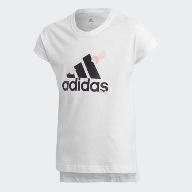 Youth 8-16 Years Gym & Training White Collegiate T-Shirt