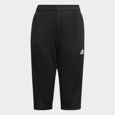 Youth Soccer Black Tiro 21 3/4 Pants