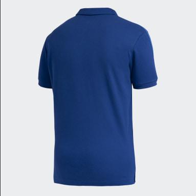 Polo con Cuello Boca Juniors 3 Tiras Azul Hombre Fútbol