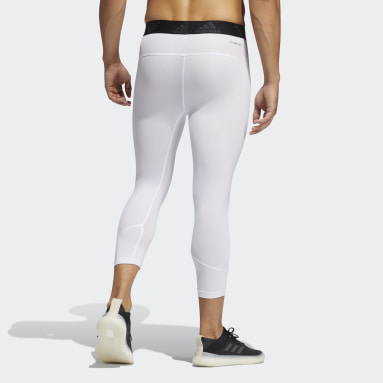 Heren Hardlopen Wit Techfit 3/4 Legging