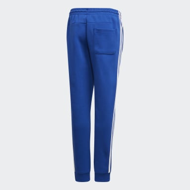 Boys Gym & Training Blue Must Haves 3-Stripes Joggers