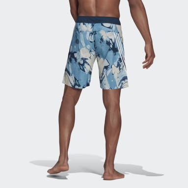 Short de bain Knee-Length Graphic Bleu Hommes Natation