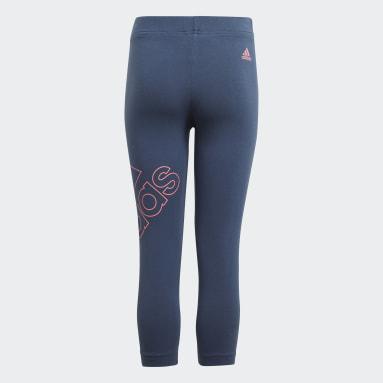 Dívky Sportswear modrá Legíny adidas Essentials Logo 7/8