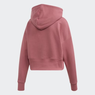 Women's Originals Burgundy Cropped Hoodie