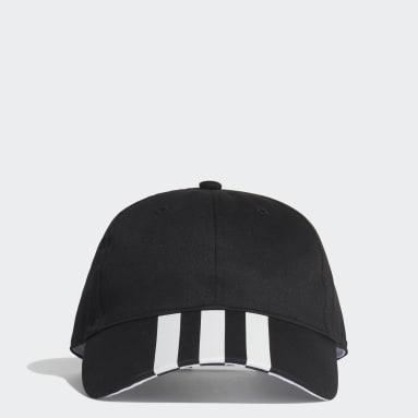 Gym & Training Black 3-Stripes Baseball Cap