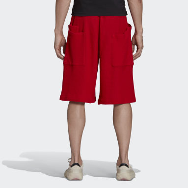 Men Y-3 Red Y-3 CH3 Chain Mesh Shorts