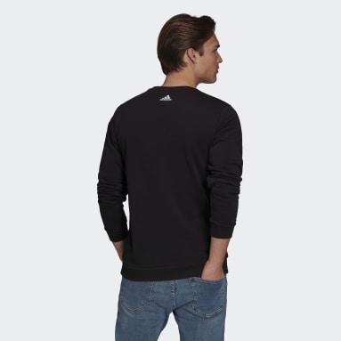 Men Soccer Black Predator Graphic Crew Sweatshirt