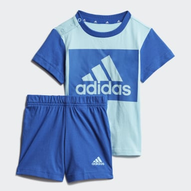 Děti Sportswear modrá Souprava Essentials Tee and Shorts