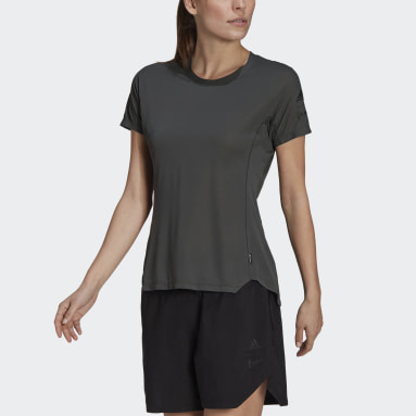 Women Outdoor Green Agravic Trail All-Around Parley Tee