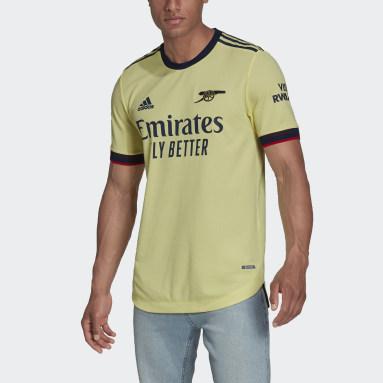 Heren Voetbal geel Arsenal 21/22 Authentiek Uitshirt