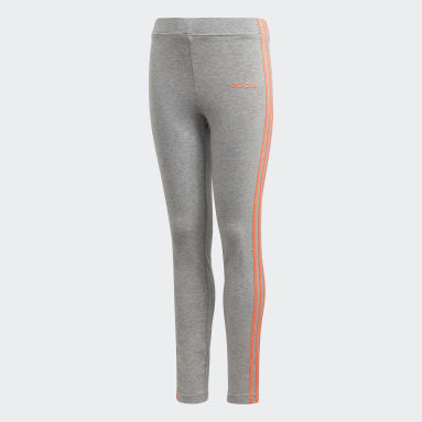 Tight Essentials 3-Stripes Gris Filles Fitness Et Training