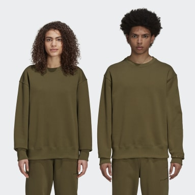 Originals Green Pharrell Williams Basics Crew Sweatshirt (Gender Neutral)