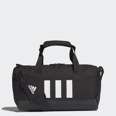 Lifestyle Black Essentials 3-Stripes Duffel Bag Extra Small