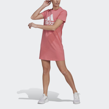 Women Sport Inspired Pink Essentials Logo Dress
