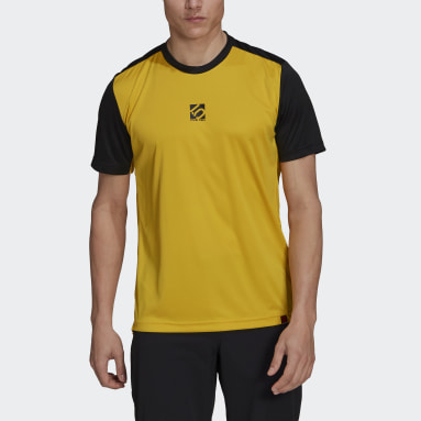 Men Five Ten Yellow Five Ten Bike TrailX Tee