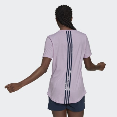 Women's Essentials Purple adidas x Zoe Saldana AEROREADY Tee