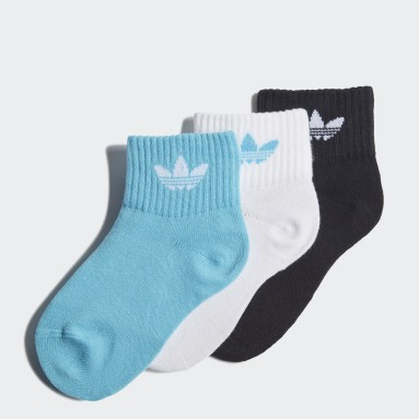 Děti Originals bílá Ponožky Mid-Ankle – 3 páry