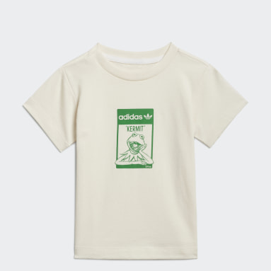Kids Originals White Disney Kermit Organic Cotton Tee