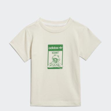 T-shirt Graphic No-Dye Organic Cotton Bianco Bambini Originals