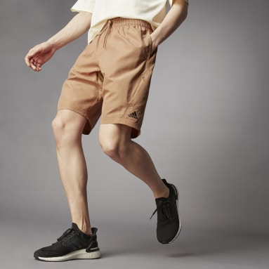 Men Sportswear Brown Terra Love O-Shape Shorts