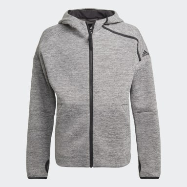 Youth 8-16 Years Gym & Training Grey adidas Z.N.E. Sportswear Hoodie Feat. Fast-Release Zipper