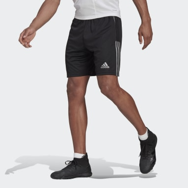 Men Cricket Black Tiro Reflective Wording Shorts