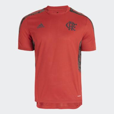 Camisa Treino CR Flamengo Vermelho Homem Futebol