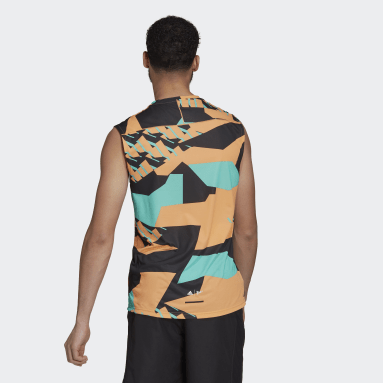Mænd TERREX Orange Terrex Parley Agravic Trail Running tanktop