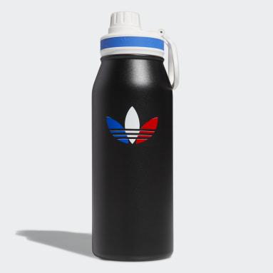 Football Black Steel Metal Bottle 1L