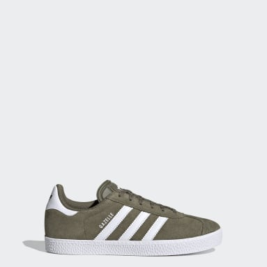 Youth 8-16 Years Originals Green Gazelle Shoes