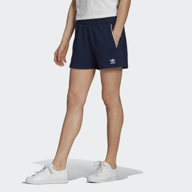 Women Originals Blue Tennis Luxe 3-Stripes Shorts