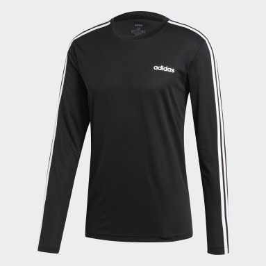 Men's Essentials Black Designed 2 Move Climalite 3-Stripes Tee
