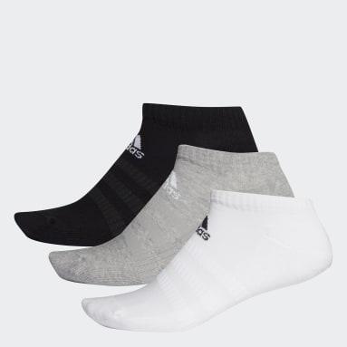 Training Gri Yastıklamalı Bilek Boy Çorap - 3 Çift