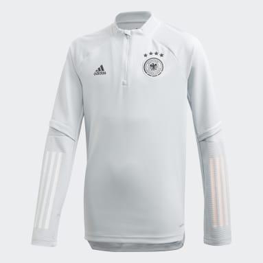 Kinderen Voetbal Grijs Duitsland Trainingsshirt