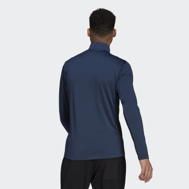 Men TERREX Blue Terrex Everyhike Half-Zip Fleece Jacket