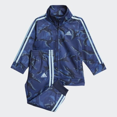 Infant & Toddler Training Blue Camo Track Jacket Set
