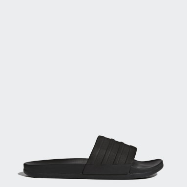 Essentials Black Adilette Comfort Slides