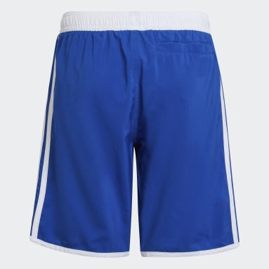 Jongens Zwemmen Blauw 3-Stripes Zwemshort