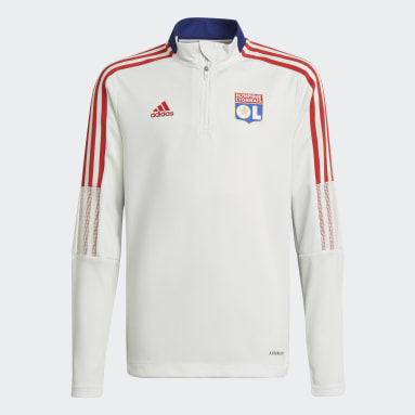 Youth 8-16 Years Football White Olympique Lyonnais Tiro Training Top