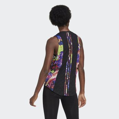 Dames Hardlopen Zwart Own The Run Floral Tanktop