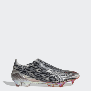 Men Soccer Silver X Ghosted+ Peregrine Speed Firm Ground Cleats