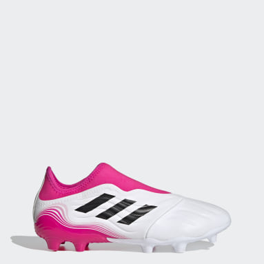 Voetbal wit Copa Sense.3 Laceless Firm Ground Voetbalschoenen
