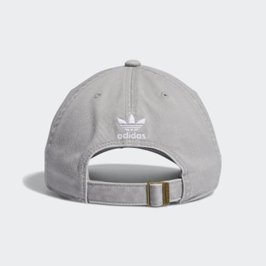 Men's Originals Grey Relaxed Strap-Back Hat