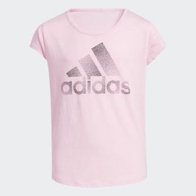 T-shirt Scoop Neck Rose Adolescents Entraînement