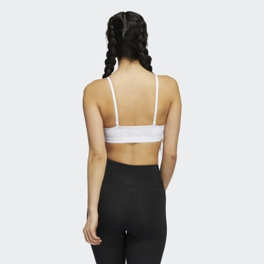 Women Studio White All Me 3-Stripes Sports Bra