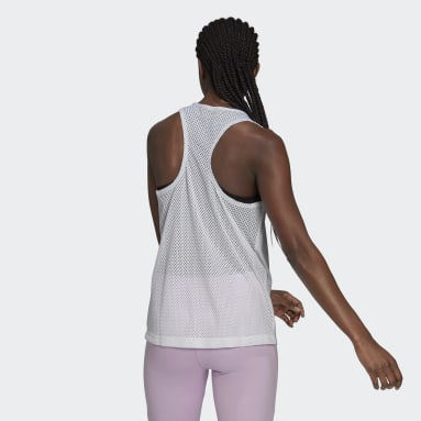Women's Essentials White adidas x Zoe Saldana AEROREADY Tank Top