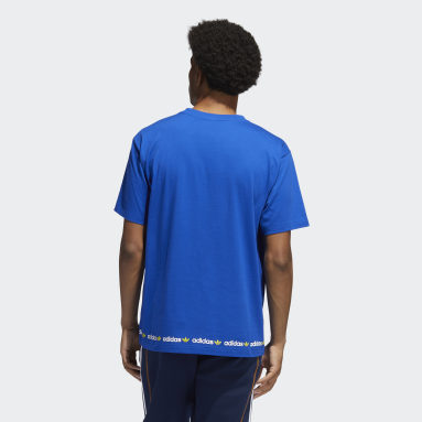 Men's Originals Blue Linear Logo Repeat Tee